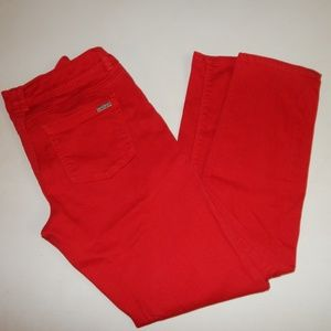 White House Black Market Size 6 Red Skinny Jeans